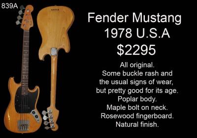 FENDER MUSTANG BASS 1978 839