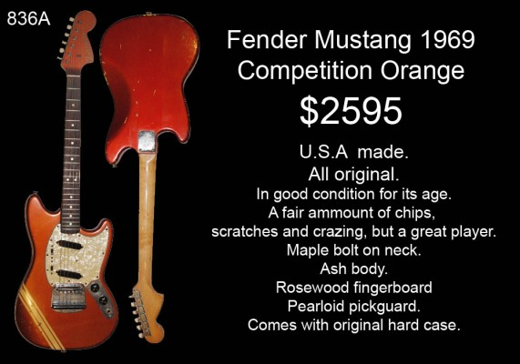 FENDER MUSTANG COMP ORANGE 1969 836