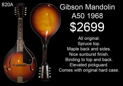 GIBSON A50 1968 820A