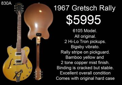 GRETSCH RALLY 1967 830A