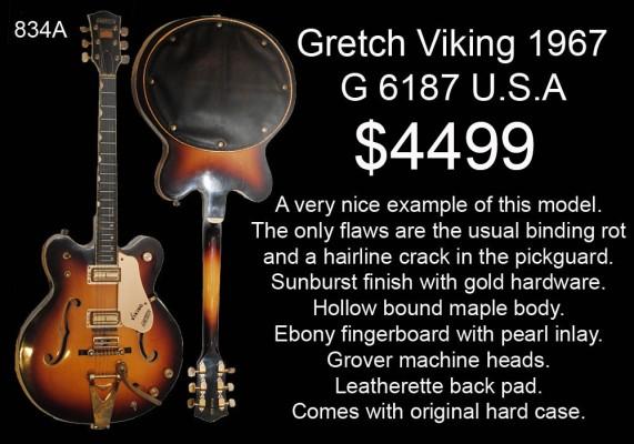 GRETSCH VIKING 1967 834A