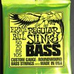 Ernie Ball Nickel Wound Electric Bass Strings 50/105 Regular Slinky