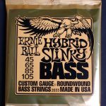 Ernie Ball Nickel Wound Electric Bass Strings 45/105 Hybrid Slinky