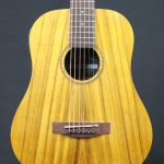 Martinez MZPT-BT2-KOA Babe Traveller Acoustic-Electric Guitar with Built-In Tuner