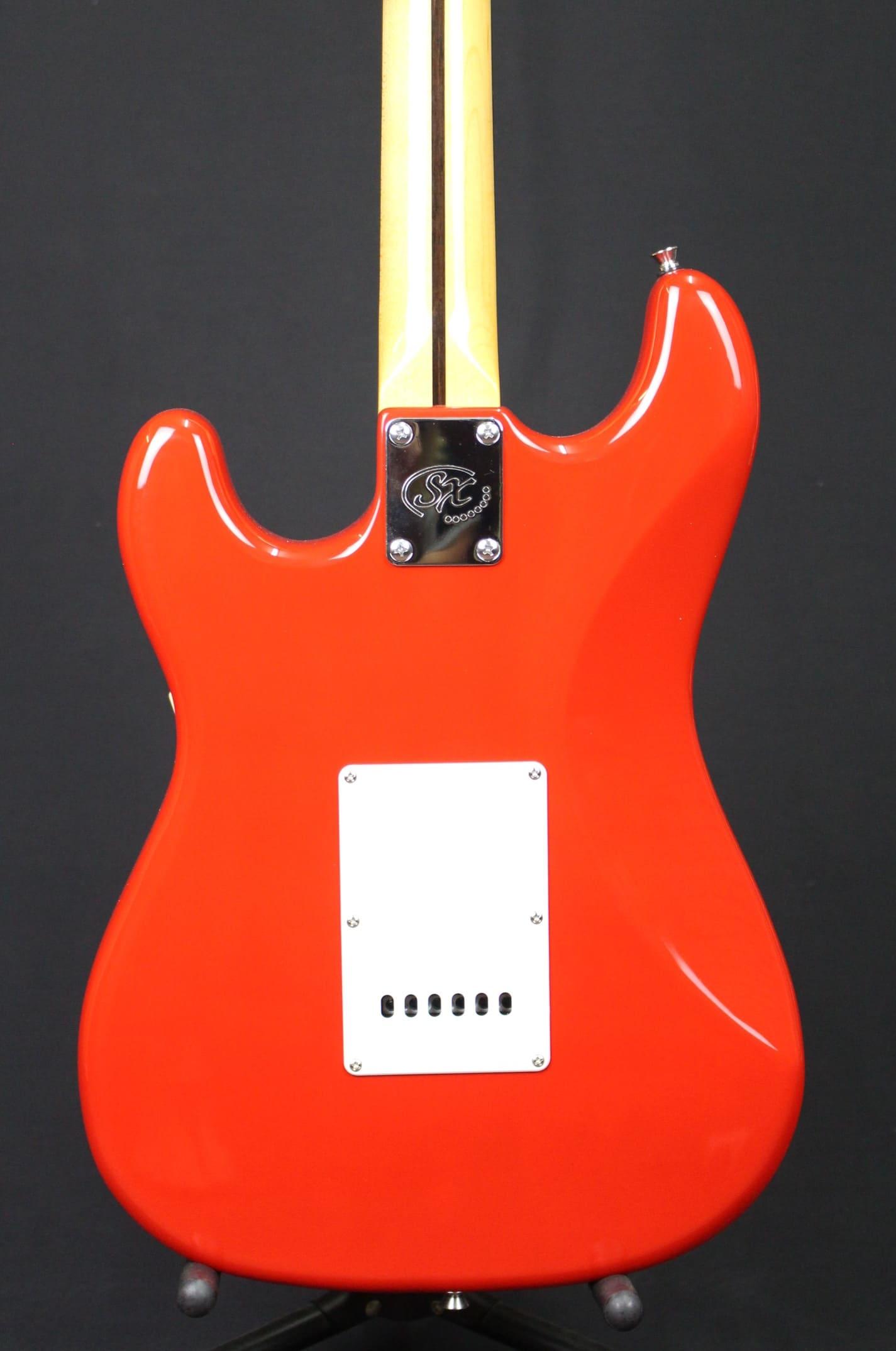 SX VES62FR Vintage Series '62 Strat Style Electric Guitar Fiesta Red