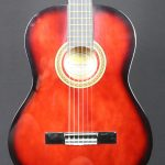 Valencia 4/4 Size Classical Guitar - Red Sunburst