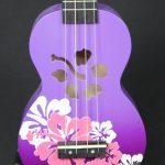 MAHALO Hibiscus Purple Burst Soprano Ukulele and Bag