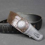 Vorson VP104 Leather Guitar Strap- Snake Skin Pattern