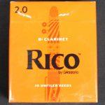 Rico Bb Clarinet Reeds - 2- Box of 10