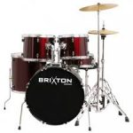 Brixton UBX25 5 Piece Full Size Drum Kit- Wine Red (NO STOOL)
