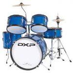 DXP TXJ7 8 Piece Junior Drum Kit-Metallic Blue
